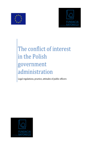 The conflict of interest in the Polish government administration